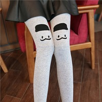 2014 smiley legging female spring and autumn thin embroidery women's legging