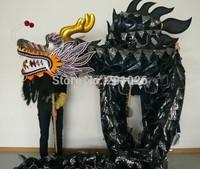 18m Length Size 3 on body   Chinese Black  DRAGON DANCE ORIGINAL Dragon Chinese Folk Festival Celebration Costume