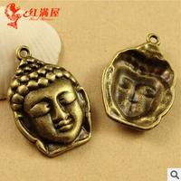 A3597  50pcs/lot size 20*29mm color bronze Buddharupa  Antique diy pendant Jewelry findings nickel free zakka