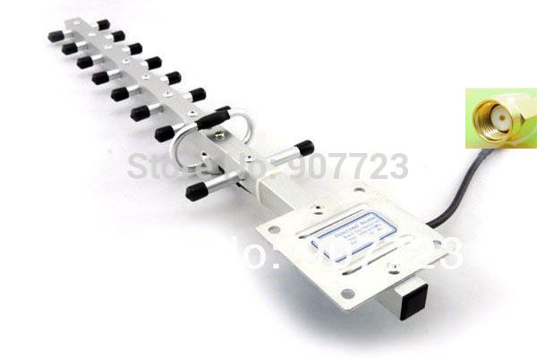 1990-2170Mhz 12DBi 3G UMTS Yagi Antenna RP SMA + SMA TO TS9 Connector(China (Mainland))