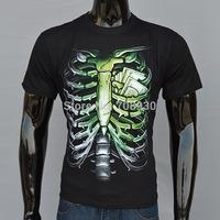 men's creative 3D t-shirt men printing cotton short-sleeved t-shirt streetwear 3D skull printed t shirts