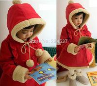 Baby Girls Winter Warm Jacket Kids Christmas Hoodies Coat 6M-5Y Outerar Jacket