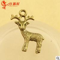 A3560  100pcs/lot size 29*17mm colour bronze fawn  Antique diy pendant Jewelry findings  nickel free zakka