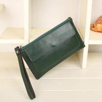 2014 new arrival high quality Cowhide clutch wallet genuine Leather Long Wallet women's handbag multi key bag purse