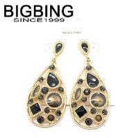BigBing Fashion drop crystal dangle earrings fashion earring fashion jewelry nickel free Free shipping!  K328