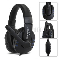 20PCS/LOT Gaming Earphone Headphone Headset Stereo + Microphone for PC Computer Blue