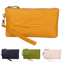 New European And American  Genuine Leather Crocodile Pattern Women Day Clutch Women Leather Handbags Wallets Bag Purse YK80-471
