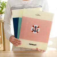 Free shipping BF050 Simple Folder (A4)  office file bag briefcase bag paper bag 6 into double gatefold folder 30.5*23.5cm