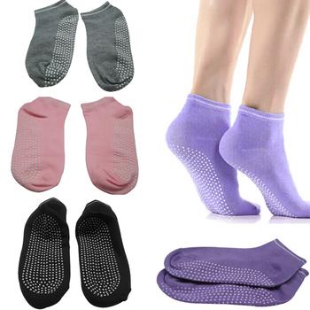Мода девушки женская спорт пилатес йога без анти-скользят носки 4 цветов