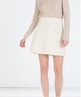 2014 New arrival Ladies' Elegant fake flip pocket mini skirts stylish office-lady Skirts casual slim fit brand design skirts