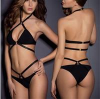 2014 New Sexy Bandage Swimsuit Push Up Beach Bikini Pad Fashion Swimwear Women Brand Designer Vintage Bikinis Set Bathing Suit
