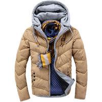 Best selling casual slim mens winter jacket hooded autumn winter mens parka jacket teenager jacket 6 colors