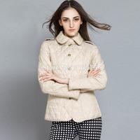 Free shipping 2014 Parkas European new winter original brand single-breasted jacket style cotton-padded jacket coat lapels M-XXL
