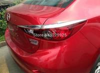ABS Chrome Tail light Cover Trim For 2014 Mazda 3 AXELA