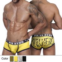 New Arrival Men's Underwear Pink Hero Print Cotton Boxer Shorts Comfortable Low Waist U Convex Boxer Trunks-Free Shipping