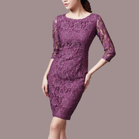 women vintage lace 3/4 sleeve bodycon pencil dresses ,sexy party dress B297