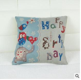frete grátis 2014 fronha lindo elefante dos desenhos animados fronha sofá de casa almofada para inclinar-se(China (Mainland))