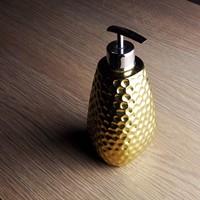10x18.5cm Ceramic fashion gold bottle hand sanitizer bottle perfume bottle shower gel bottle 520ml