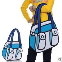 Women Taiwan secondary yuan 3D cartoon handbag shoulder bag cross-body bags 1023