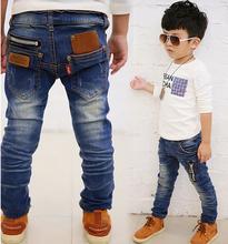 Nueva primavera otoño niños ropa niños bebés vaqueros niños pantalones la nueva versión coreana al por menor 4-11 años de edad envío gratis(China (Mainland))