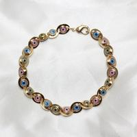 Free shipping 2014 Fahion copper alloy eye bracelet for women punk bracelet  jewelry