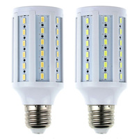 New1PC E27 Base 15W 200-220V 60 LEDs SMD 5630 Energy Saving Corn Spot Light Lamp Bulb Warm White/ Pure WhiteTonsee