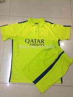 Jersey 2014 2015 Soccer Jerseys training suits  light green color Shirts Embroidered LOGO SUAREZ I.RAKITIC 4 MASCHERANO