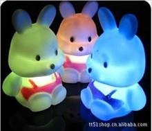 Turnip rabbit colorful night light christmas creative gift Children's toys kids night light Support wholesale / ultra low price(China (Mainland))