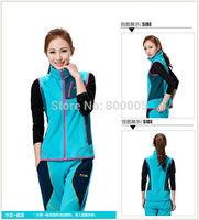 Autumn Vvest women with hood winter coat Causal Windproof  Fleece Waistcoat Sports Sleeveless Jacket 3 Colors Size:S M L XL XXL