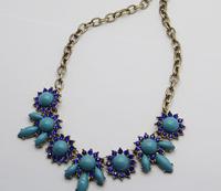 2014 new fashion romantic retro gem necklace  A93