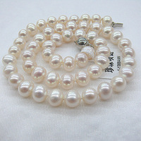 8-9 mm round AA natural freshwater pearl necklace JD1 - Y - 8 nn