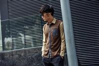2014 autumn new style men long sleeve shirts slim Korean tide cotton casual shirts M-2XL