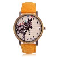AliExpress Hot Sell Woman casual watch fashion watch for men  zebra Vintage Fashion watches