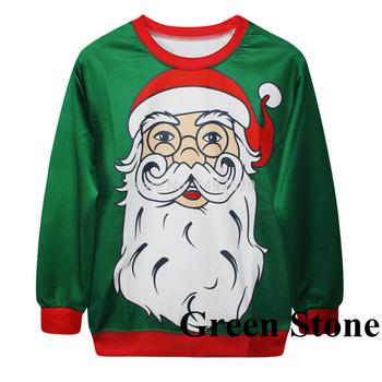 Дед мороз дед мороз с длинной бородой свитер толстовки обычный размер зеленый GSHY4180