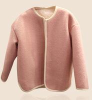 New brand design slim short women coat 2014 winter Coat solid pink long sleeve top quality high grade wild match jacket fw-789