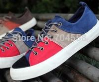 New 2014 spring hot sale men's casual shoes korean cowboy breathable canvas shoes fashionable joker flat shoes
