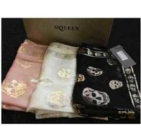 2014 new fashion winter 100 % genuine silk scarf print skull scarf women soft silk scarves brand shawl with original box