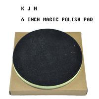 K517Free shipping High quality 6 inch car care car wash cleaning polishing magic clay pad before wax polishing pad