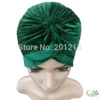 6 colors arabic flannelette velvet Turban, winter Muslim hat, Dastar, women's turban