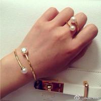 Fashion big brand gold bracelet pearl bracelets bangles kors bracelet charm bracelets for women same style rings,Free Shipping