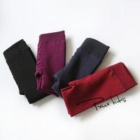 plus velvet girl backing pants solid color cotton warm winter tights New Korean children's clothing
