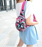 Free shipping 2014 Korean leisure sports men and women beautiful chest Pack Backpack hot sale hot bag