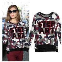 YHM1496  New 2014 Autumn Women Round Neck Long Sleeve Casual  Pullover Sweatshirt
