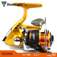 2014 New Seaknight YinHai YB-3000 Metal Spool Spinning Carp Fishing Reel 12+1BB 5.5:1 For Feeder Fishing