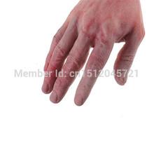 Verkauf! 2x durchtrennt blutigen blutigen gefälschte latex abgeschnitten blutigen LifeSize arm hand Horror Stütze für halloween Haunted partei Schabernack(China (Mainland))