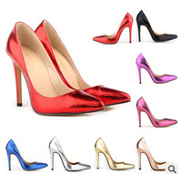 Guangdong new ultra- high heels on red tip classic thin heel shoes shallow mouth singles shoes star with