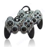 1PC FREE SHIPPING New USB2.0 Wired Interact GamePad Shock Gamepad Joystick Joypad Controller for PC DW022