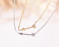 Aliexpress Cute arrow charm necklace tiny simple arrow pendant necklace jewelry fashion necklace for woman 2014