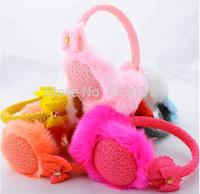 12pcs Korean new ladies winter warm plush earmuffs earmuffs ear protection knitted bow Mix colors