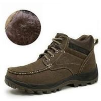 U.S. men's cotton shoes camel warm winter high-top shoes men shoes leather casual men's cotton snow boots trend
